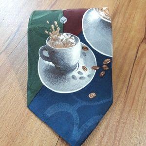 Structure Coffee Latte Cappuccino Silk Necktie Tie